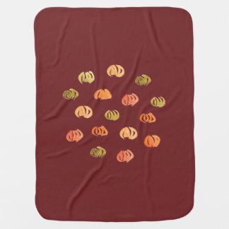Manta del bebé de la calabaza mantitas para bebé
