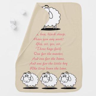 Manta del bebé de la poesía infantil de las ovejas