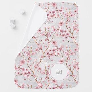 Manta del bebé de las flores de cerezo