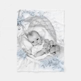 Manta del bebé de los azules cielos del vintage