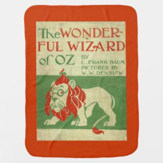 Manta del bebé de mago de Oz del león