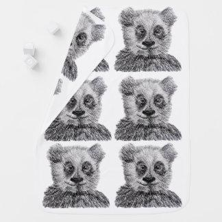 Manta del bebé del bosquejo del bebé de la panda mantita para bebé