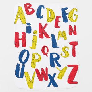 Manta del bebé del color primario del alfabeto