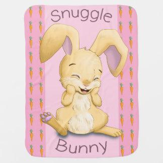 Manta del bebé del conejito del Snuggle (rosa)