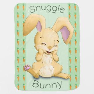 Manta del bebé del conejito del Snuggle (verde)