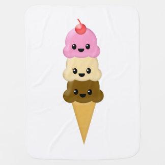 Manta del bebé del cono de helado