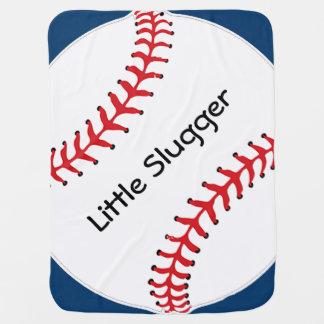 Manta del bebé del diseño del softball del béisbol