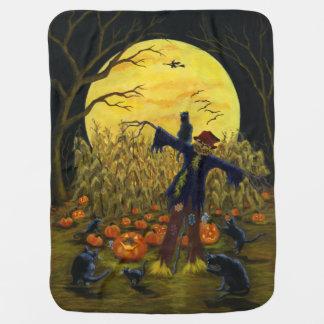 Manta del bebé del espantapájaros de Halloween
