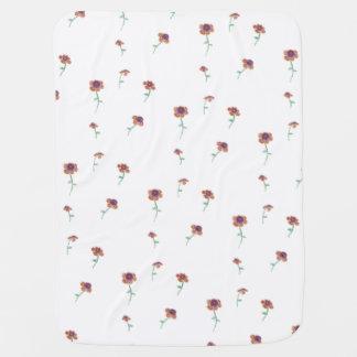 Manta del bebé del estampado de flores mantitas para bebé