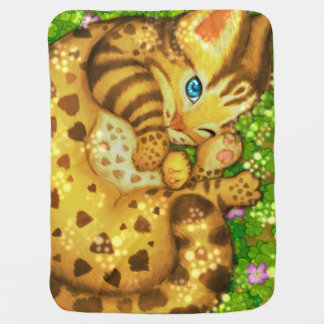 Manta del bebé del gato de leopardo