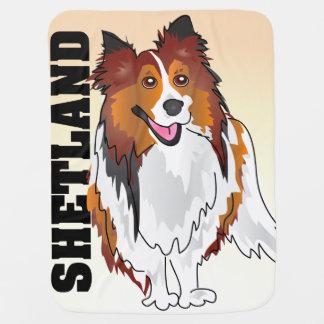 Manta del bebé del perro pastor de Shetland Mantitas Para Bebé