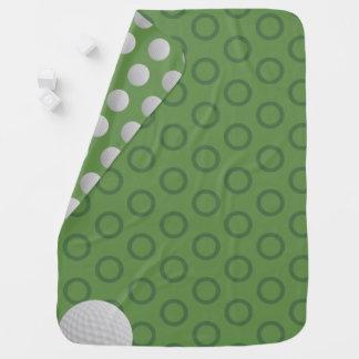 Manta del bebé del verde de musgo de los lunares mantitas para bebé