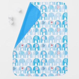 Manta del bebé - elefantes azules