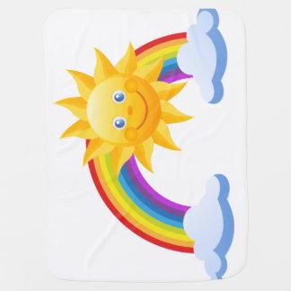 Manta del bebé - motivo feliz del sol