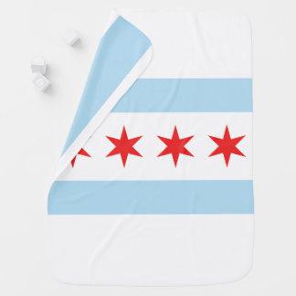 Manta del cochecito de la bandera de Chicago