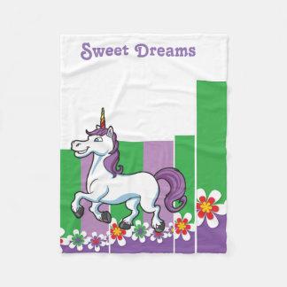 Manta del paño grueso y suave con unicornio