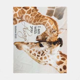 Manta del paño grueso y suave de la jirafa