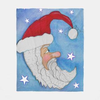 Manta del paño grueso y suave de la luna de Santa