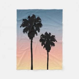 Manta del paño grueso y suave de las palmeras de