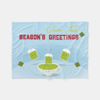 Manta del paño grueso y suave de los tés verdes el