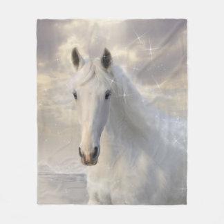 Manta del paño grueso y suave del caballo blanco