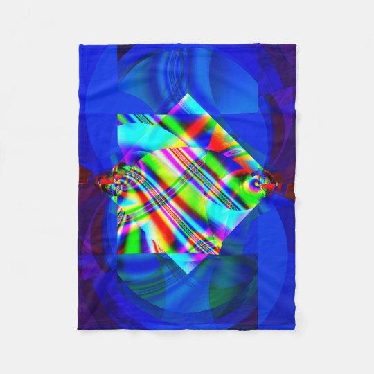 Manta del paño grueso y suave del fractal, cubismo