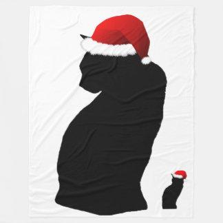 Manta del paño grueso y suave del gato de Santa