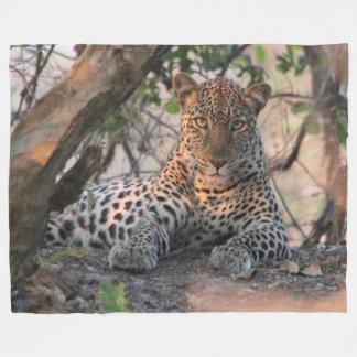 Manta del paño grueso y suave del leopardo