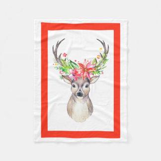 Manta del paño grueso y suave del navidad del reno