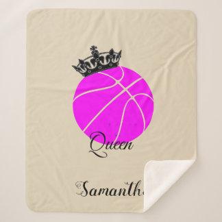 Manta del sherpa de la reina del baloncesto