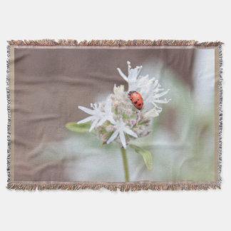 Manta del tiro de las flores de Silverleaf