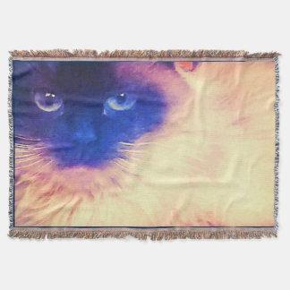 Manta del tiro del gato persa