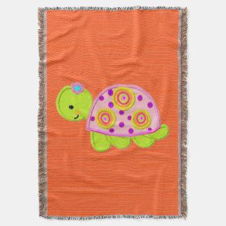 Manta diseño de la plantilla de la tortuga