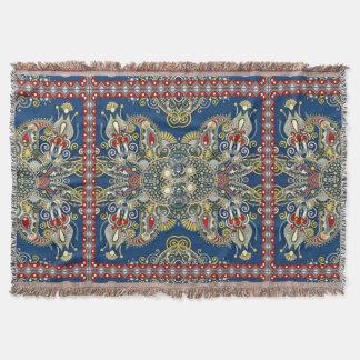 Manta Diseño oriental del azul real