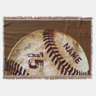 Manta El béisbol personalizado del vintage cubre el