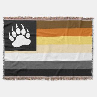 Manta El gay lleva la bandera del orgullo y la pata de