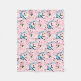 Manta elegante de los rosas de los pájaros n