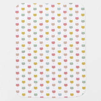 Manta en colores pastel del bebé de los gatos manta de bebé