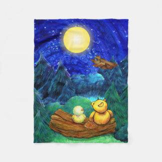 Manta estupenda de la noche de la luna