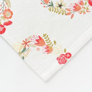 Manta floral rosada del paño grueso y suave del