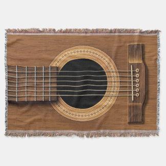 Manta Guitarra acústica de madera caliente
