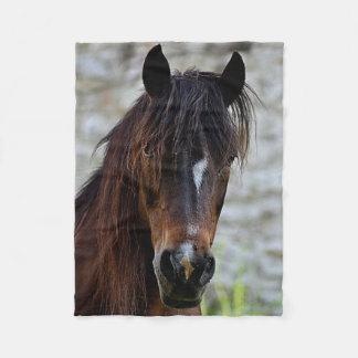 Manta hermosa del paño grueso y suave del caballo