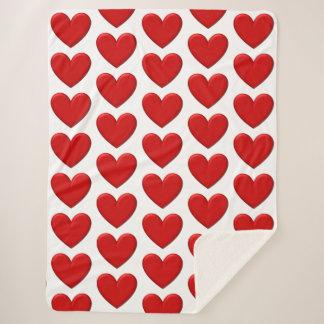 Manta hinchada de los corazones
