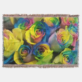 Manta imponente del tiro de los rosas del arco
