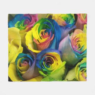 Manta linda del paño grueso y suave de los rosas