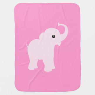 Manta linda rosada del elefante para la niña