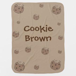 Manta marrón del bebé de la galleta