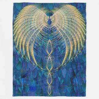Manta mezclada de Rishi de la pluma de los azules