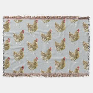 Manta modelada ilustrada del tiro del pollo