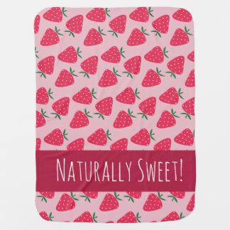 Manta naturalmente dulce de la niña de la fresa mantitas para bebé
